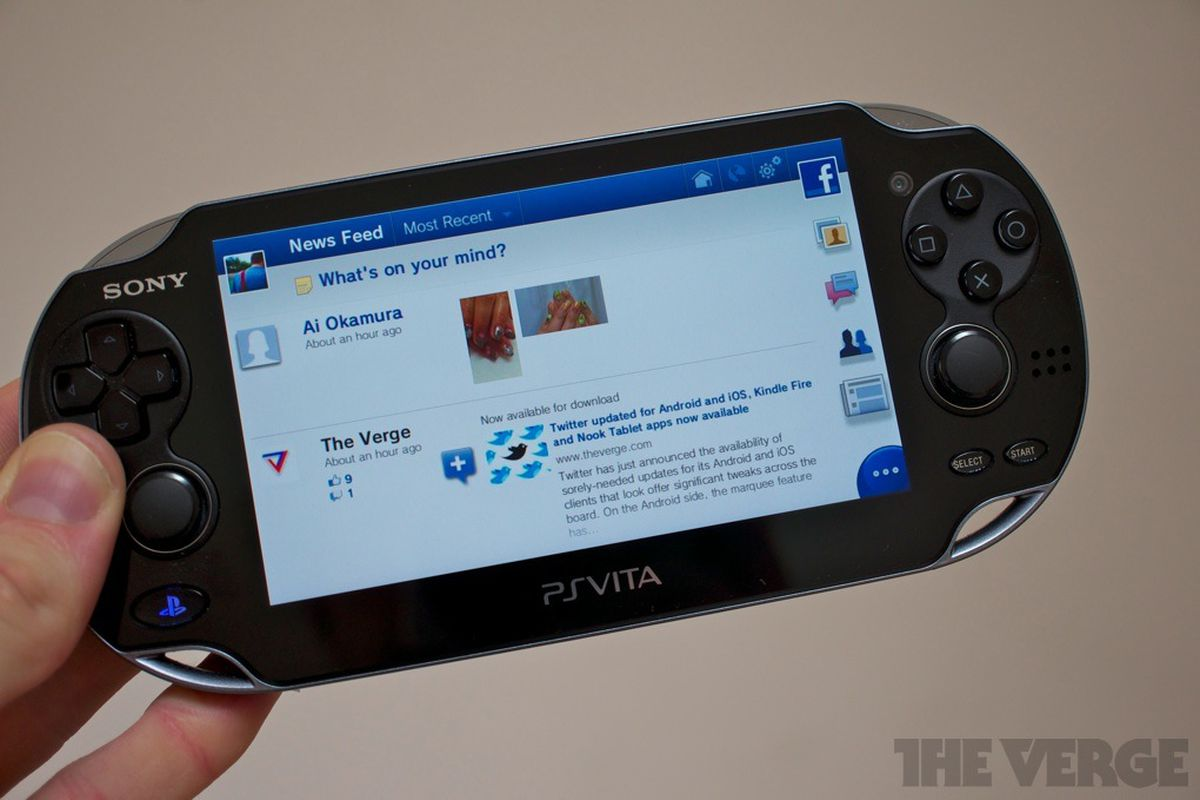 Facebook for PS Vita hands-on (video) - The Verge