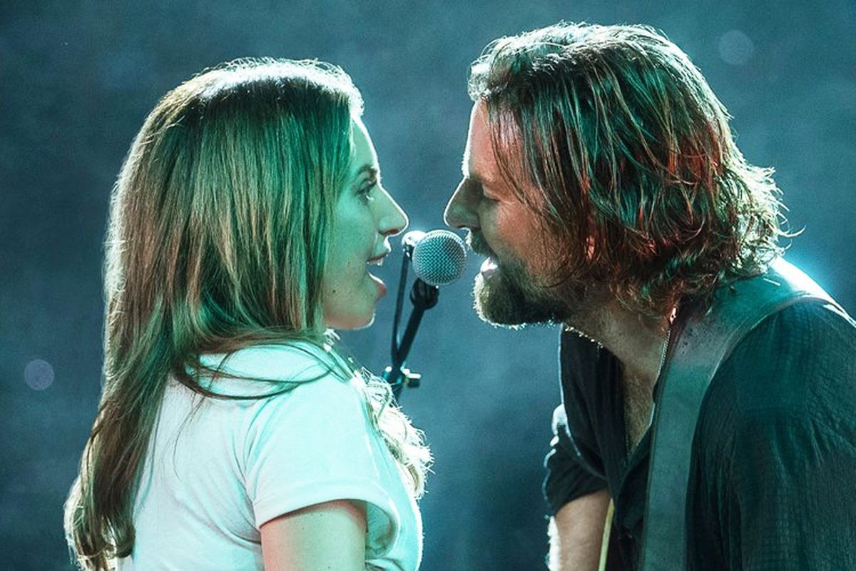 Lady Gaga and Bradley Cooper star in A Star is Born, directed by Cooper.