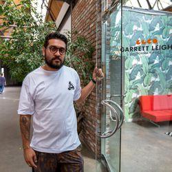 Designer and Founder, Garrett Leight, outside his DTLA offices.