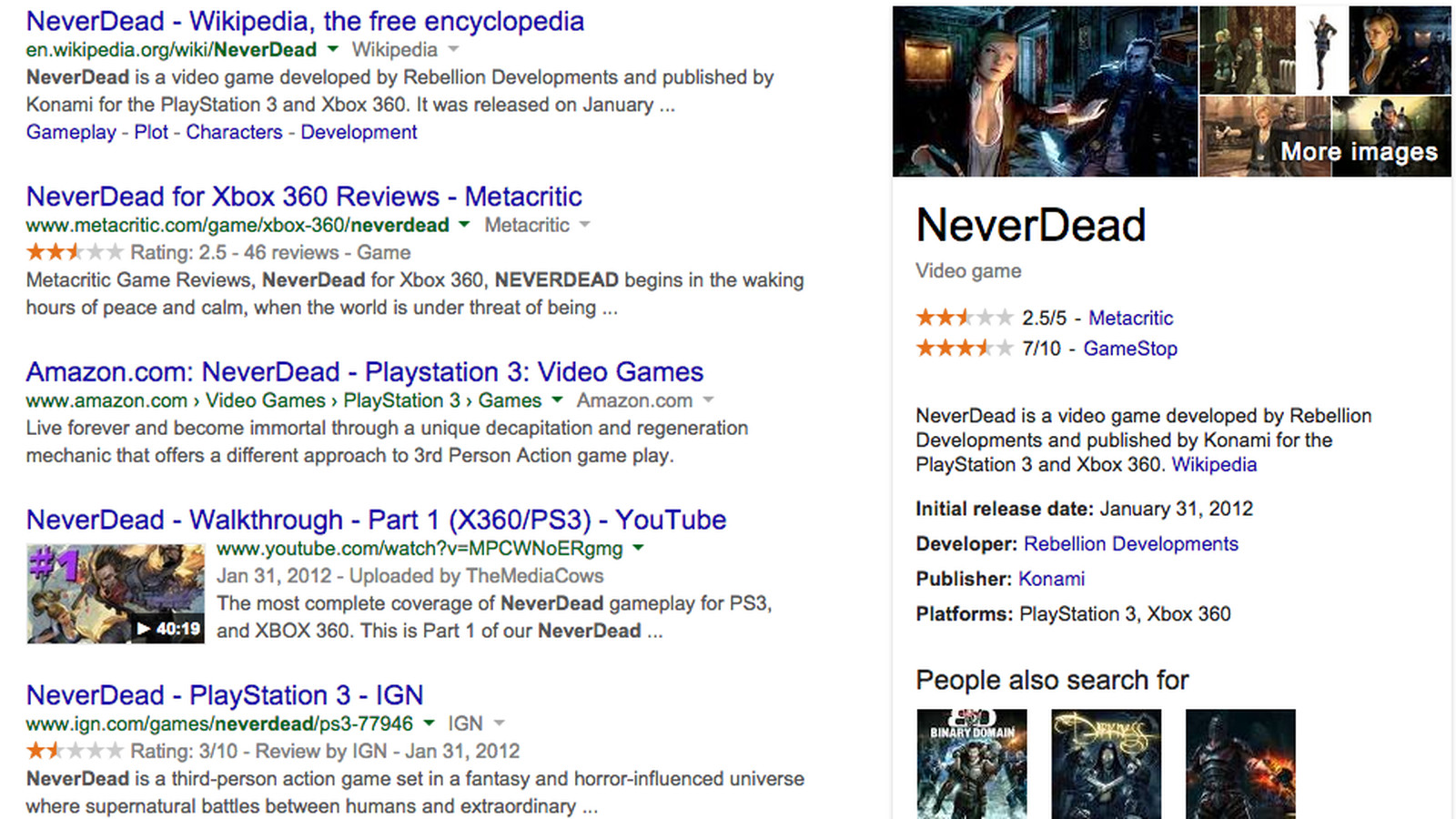 Google adds video games to its Knowledge Graph - Polygon