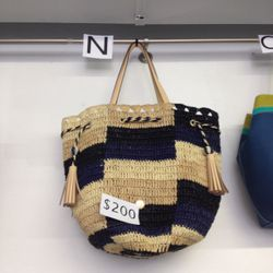 Woven bag, was $200 (prices have since been reduced)
