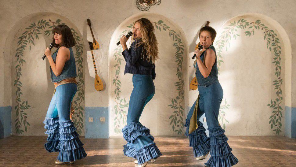 Jessica Keenan Wynn, Lily James, and Alexa Davies in Mamma Mia! Here We Go Again
