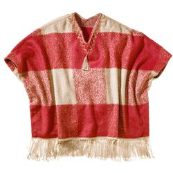 Mohair Fringe Poncho in Red Plaid, $59.99, (S/M-L/XL, 1X/2X-3X/4X*) *Target.com Only