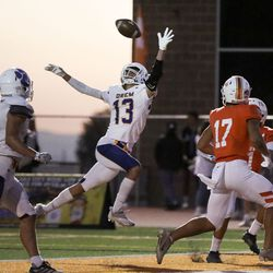 Timpview competes against Orem in a high school football game at Timpview High in Provo on Thursday, Sept. 30, 2021.