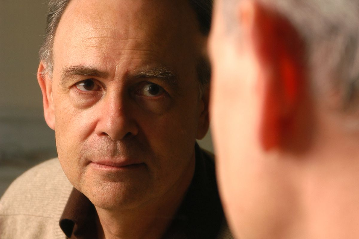 French writer Patrick Modiano poses during portrait session held on December 20, 2004 in Paris, France.