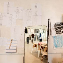 Mirrors, sketches and samples.