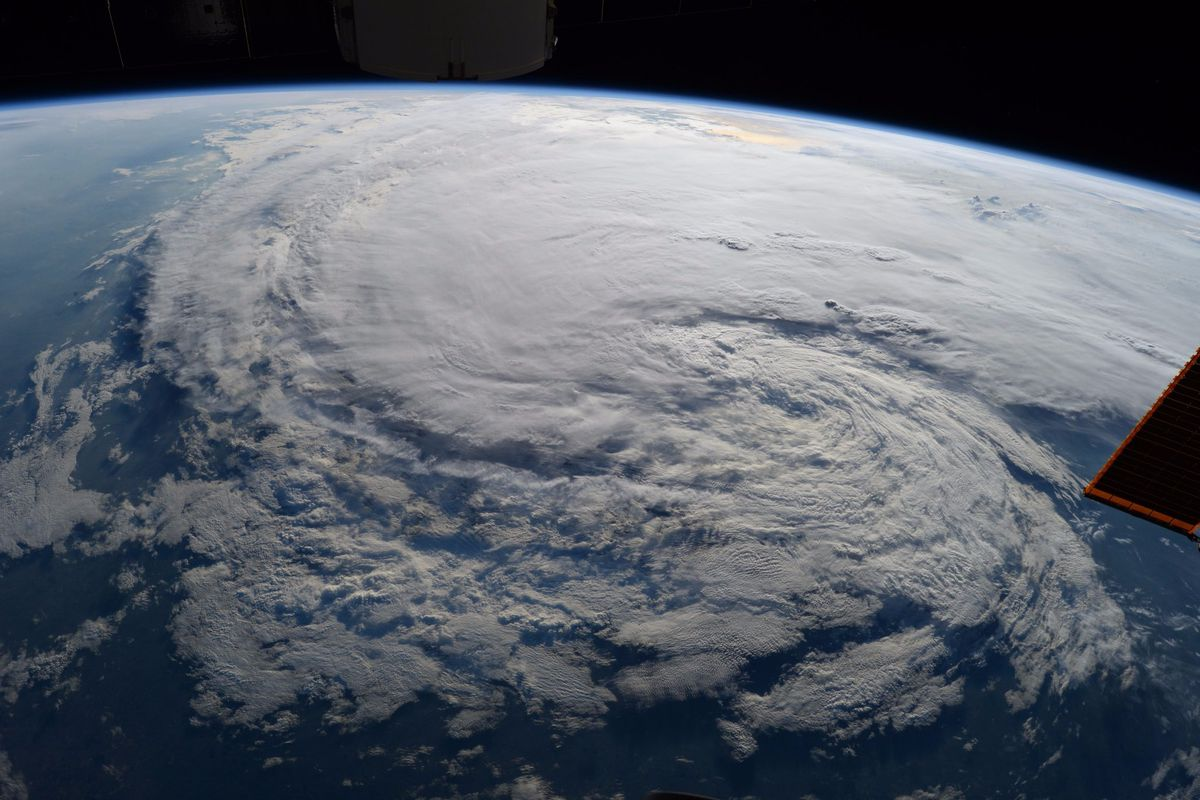 Hurricane Harvey from the International Space Station, August 28th, 2017.