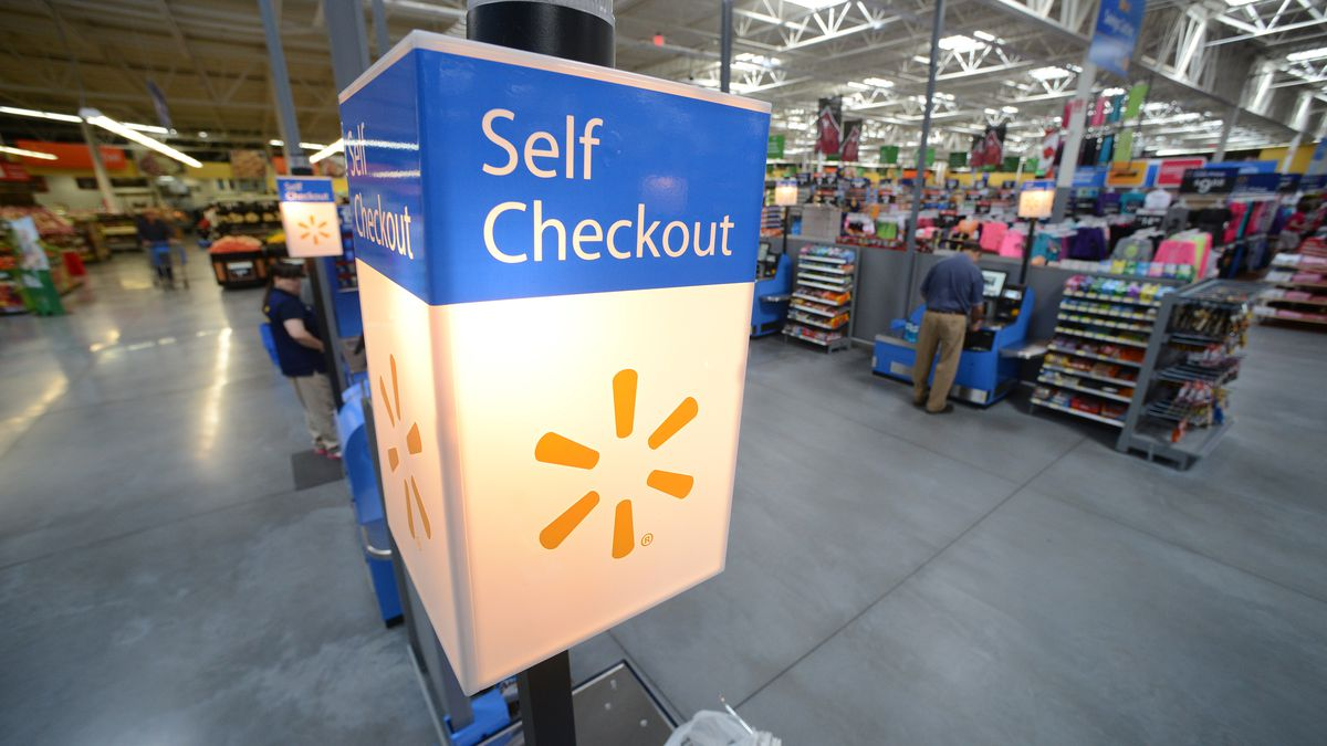f918c02764e Walmart will test out giant self-checkout stations that could eliminate  cashiers completely. Spencer Tirey Walmart