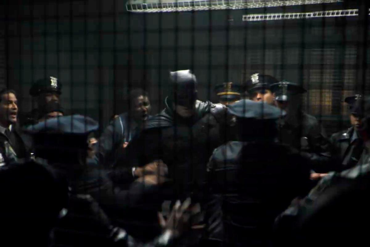 batman and the gotham pd in The Batman (2021)
