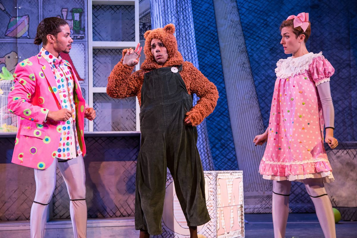 """A scene from Emerald City Theatre's """"Corduroy,"""" now playing at the Broadway Playhouse at Water Tower Place."""