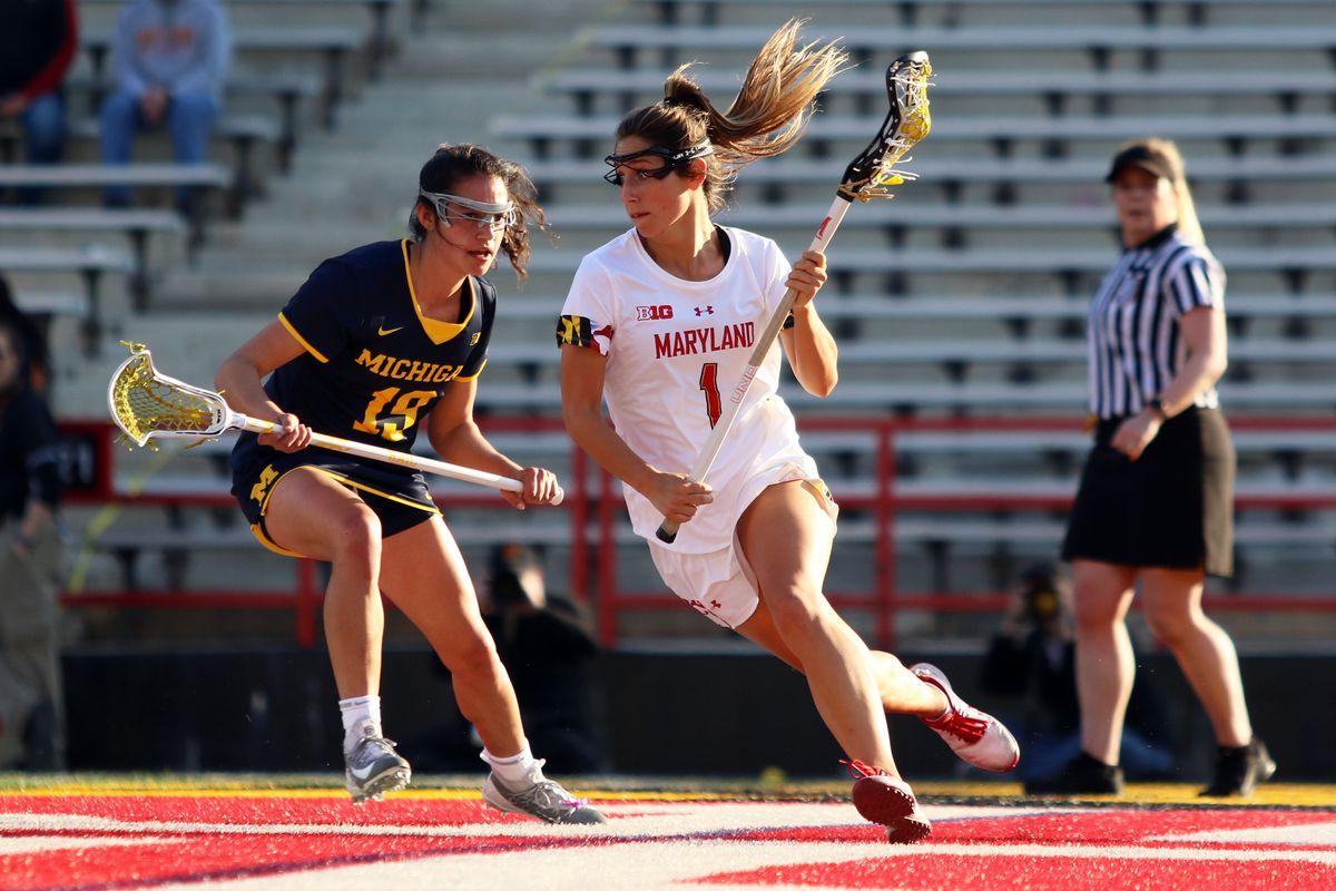 Maryland women's lacrosse Brindi Griffin vs. Michigan