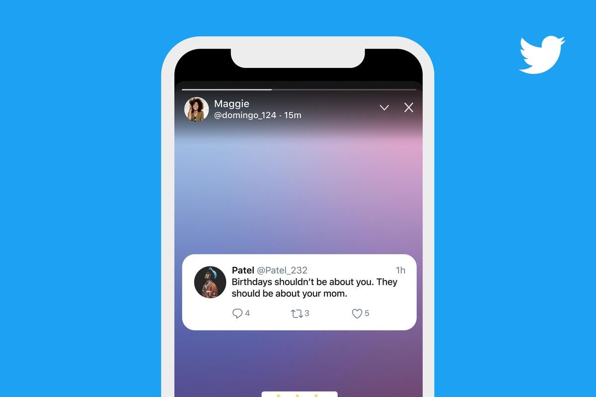 fitur story twitter fleets