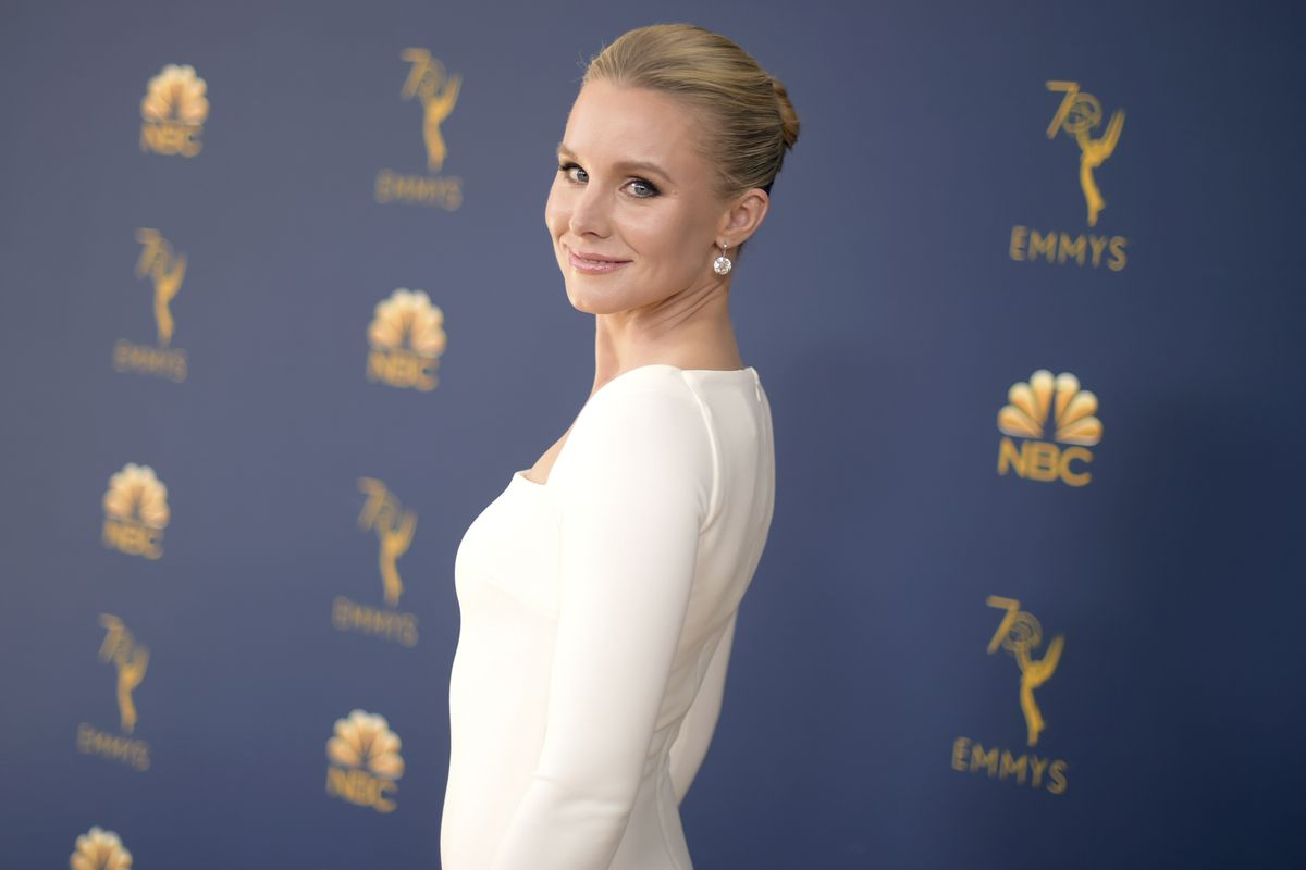 FILE - In this Sept. 17, 2018 file photo, Kristen Bell arrives at the 70th Primetime Emmy Awards in Los Angeles. (Photo by Richard Shotwell/Invision/AP, File)
