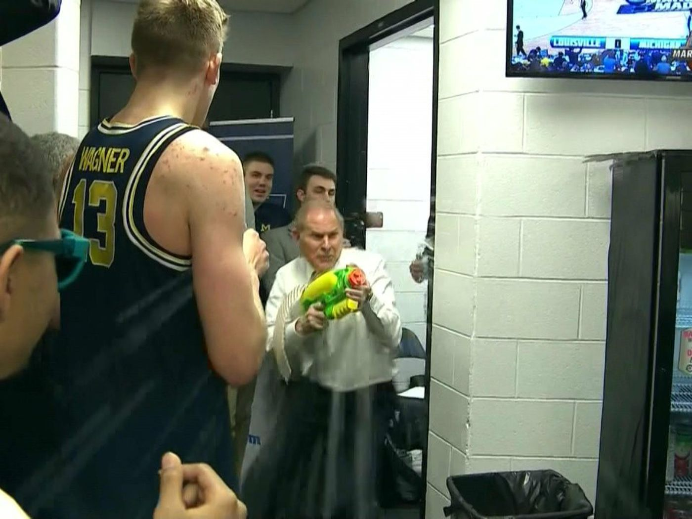 Image result for john beilein water gif