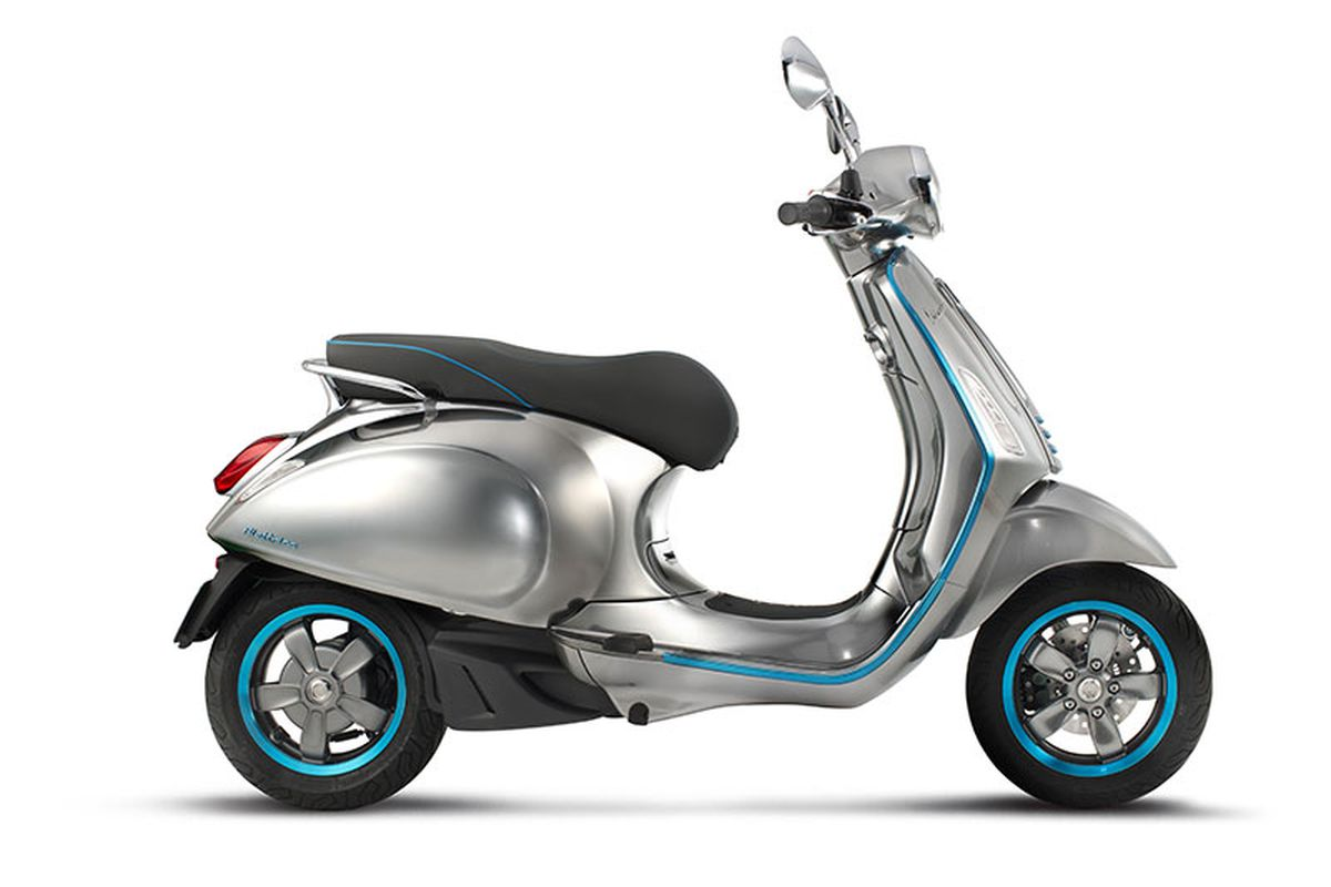 vespa's first electric scooter looks gorgeous - the verge
