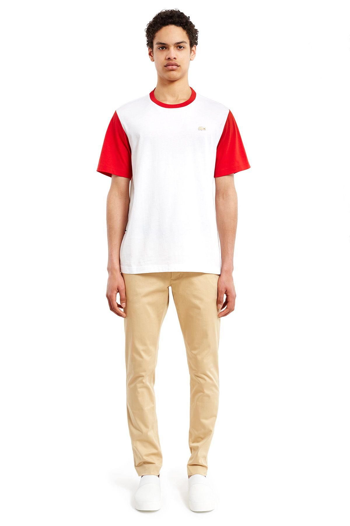 Lacoste x Opening Ceremony red and white tee