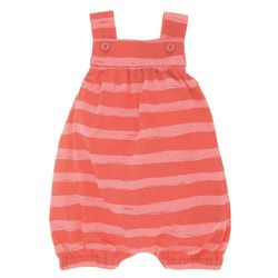 """This <a href=""""http://www.barneys.com/Sleeveless-Striped-Romper/501469992,default,pd.html?cgid=GIRL_ONE_PIECE"""">Little Marc romper</a> ($57 at Barneys) isn't quite seasonal, but it's so cute. Buy it a little big so she can grow into it."""
