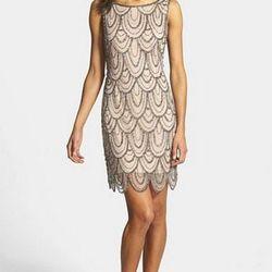 """<a href=""""http://shop.nordstrom.com/s/pisarro-nights-embellished-mesh-cocktail-dress-regular-petite/3533876"""">Pisarro Nights Embellish Mesh Cocktail Dress</a>, $148"""
