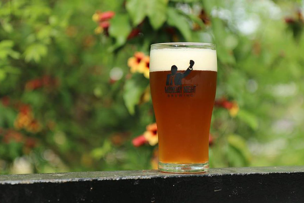 A glass of Monday Night Brewing beer