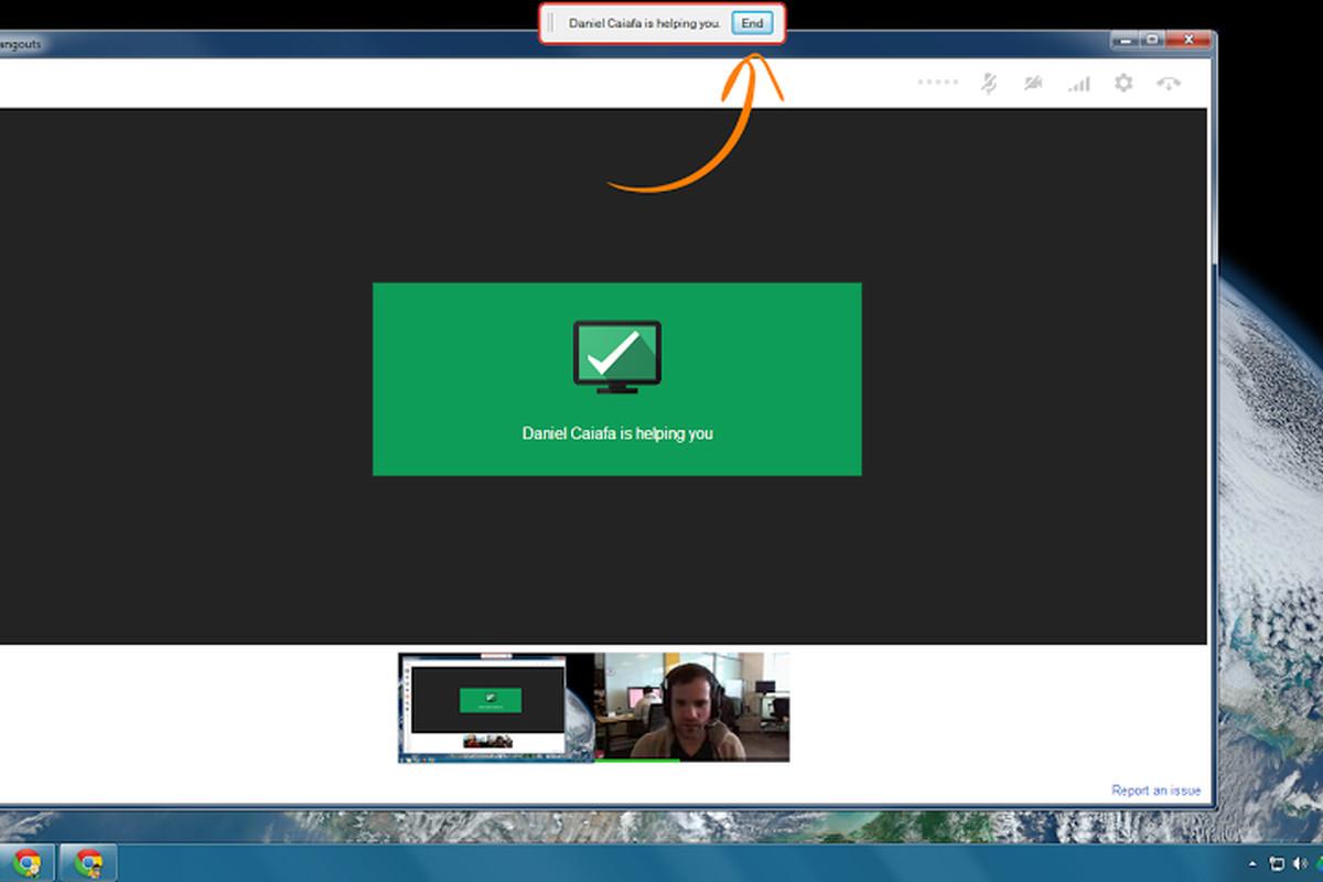 Google+ remote desktop