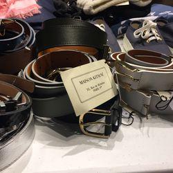 Maison Kitsuné belts, $75