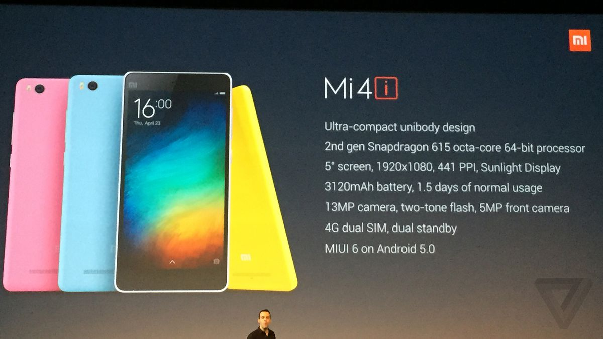 Xiaomi's next smartphone is the Mi 4i for India - The Verge