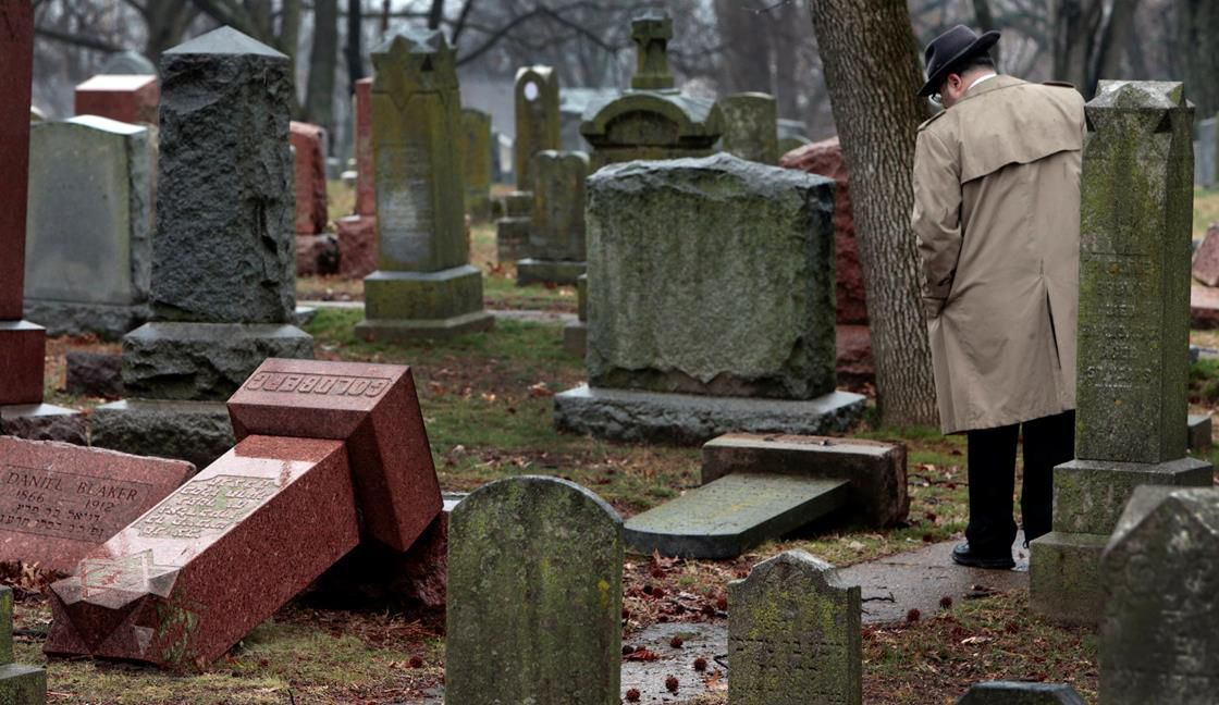 A vandalized Jewish cemetery in St. Louis