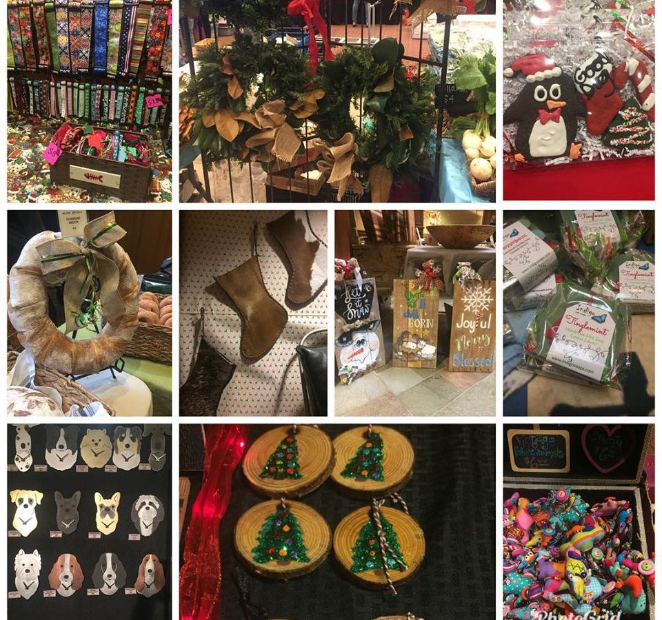 A sample of products available at the holiday market.