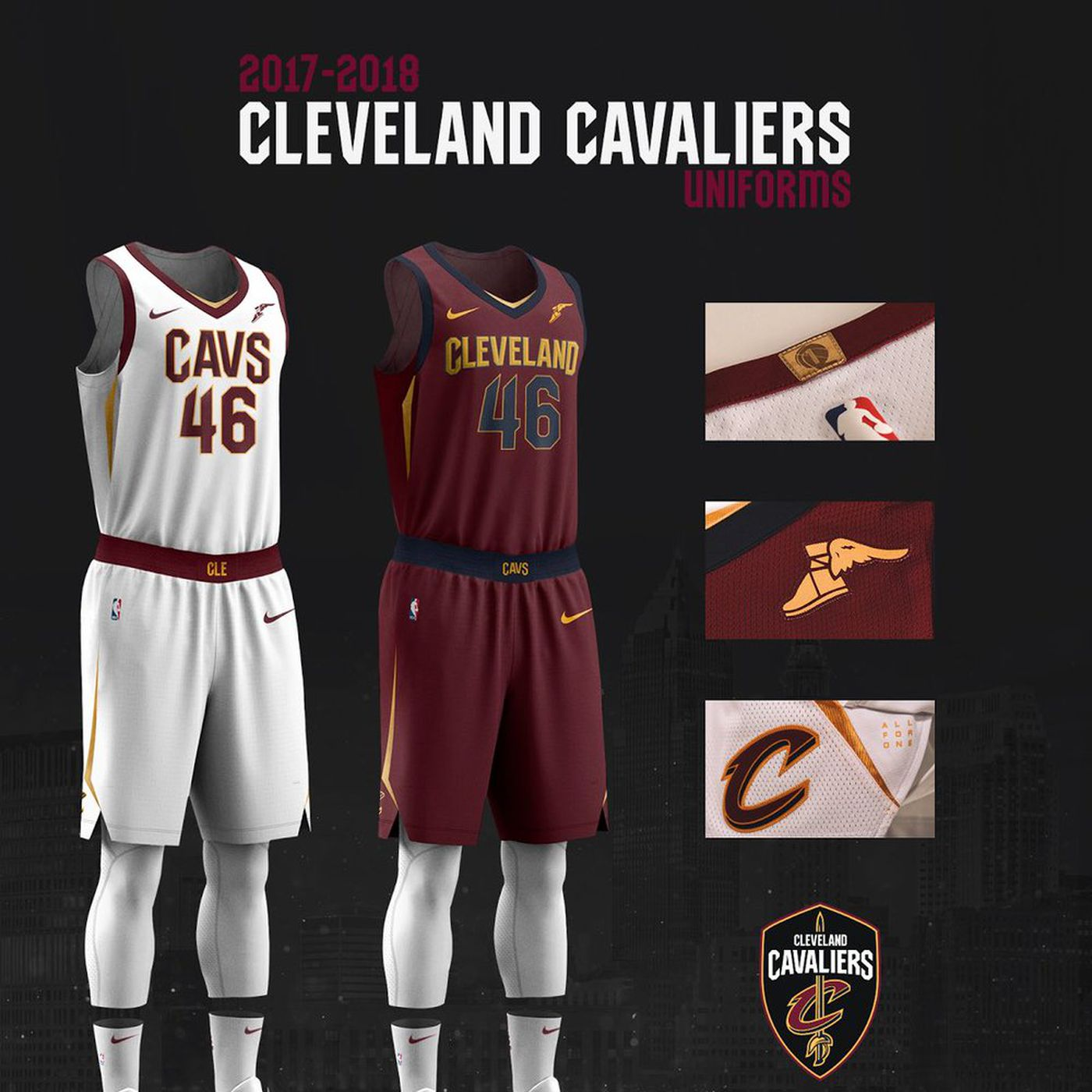 2a054949740 Cavaliers unveil new uniforms for 2017-18 season - Fear The Sword