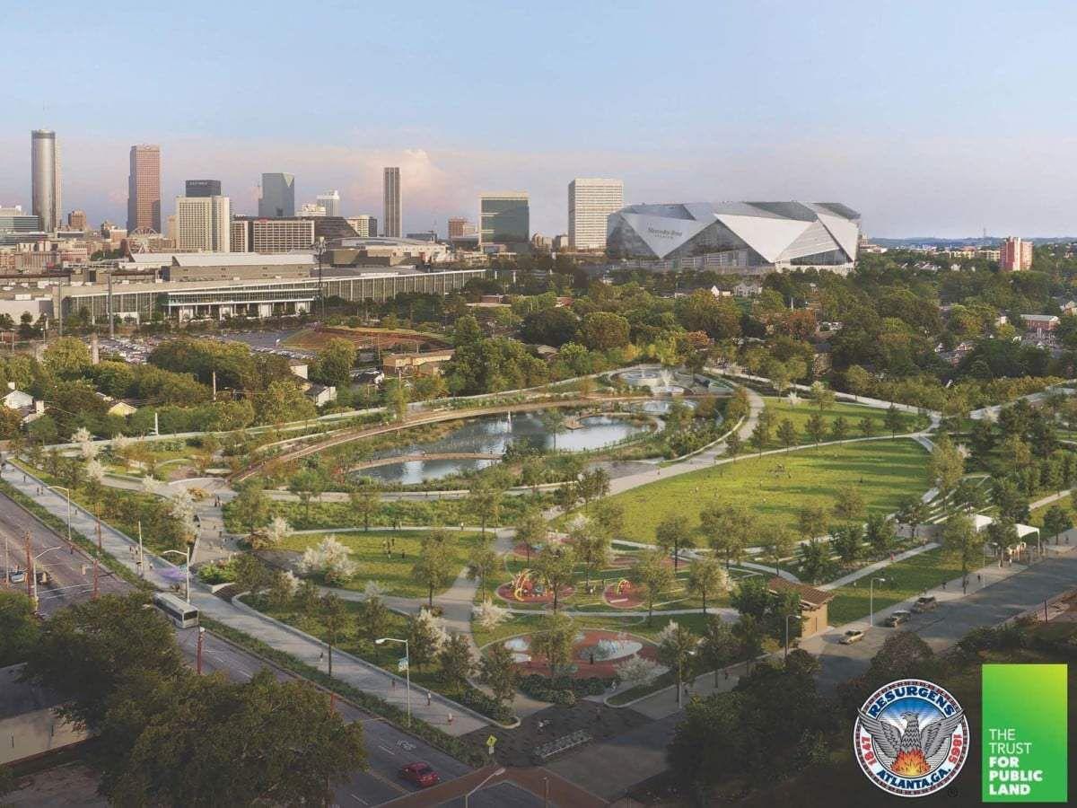 The new Rodney Cook Sr. Park in Atlanta's Vine City neighborhood.