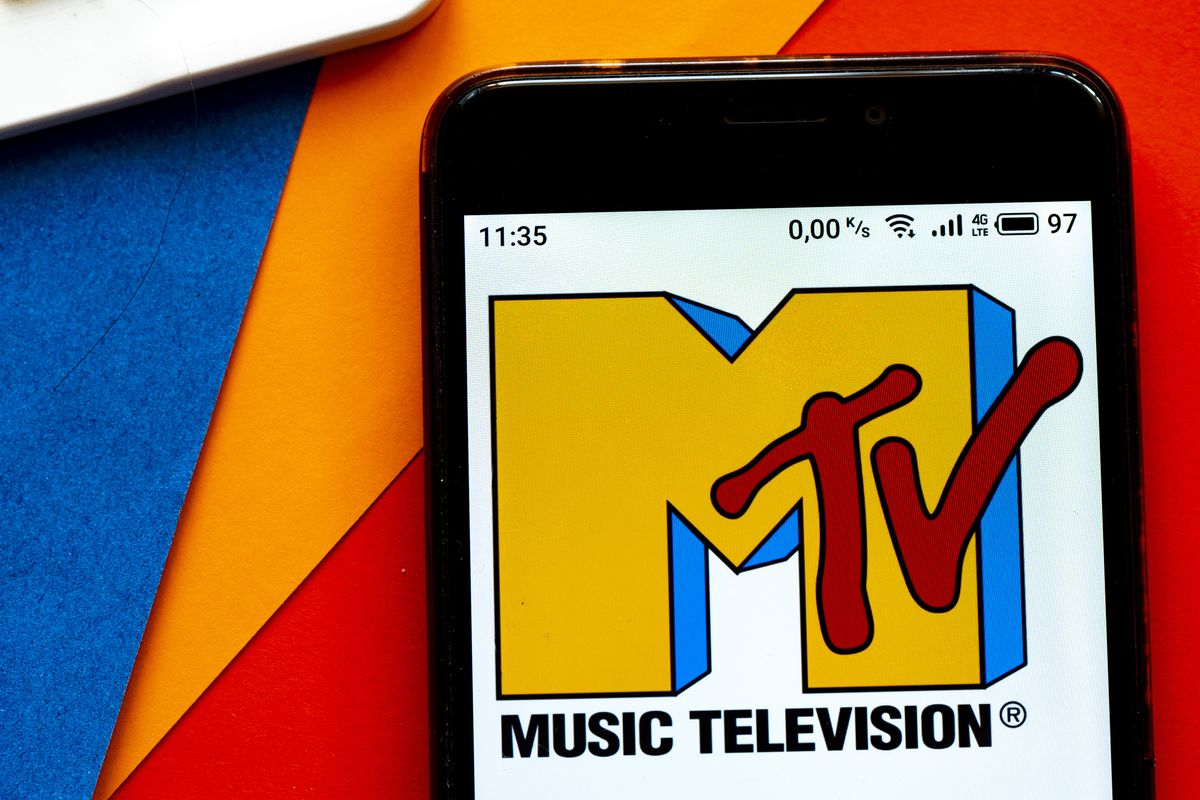 In this photo illustration a MTV (originally an initialism...