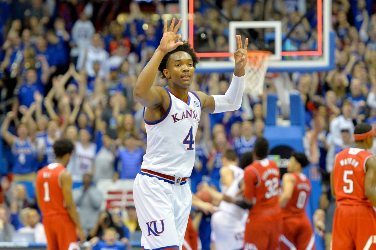 NCAA Basketball: Nebraska at Kansas