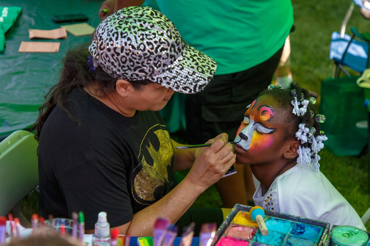 The events feature food, school supply giveaways, and activities for children.