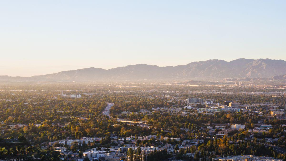 San Fernando Valley aerial view