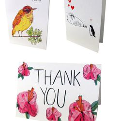 """Thank you card multi-pack, <a href=""""http://elizabethgraeber.com/shop/170864165"""">$18</a> by <a href=""""http://elizabethgraeber.com/"""">Elizabeth Graeber</a>"""