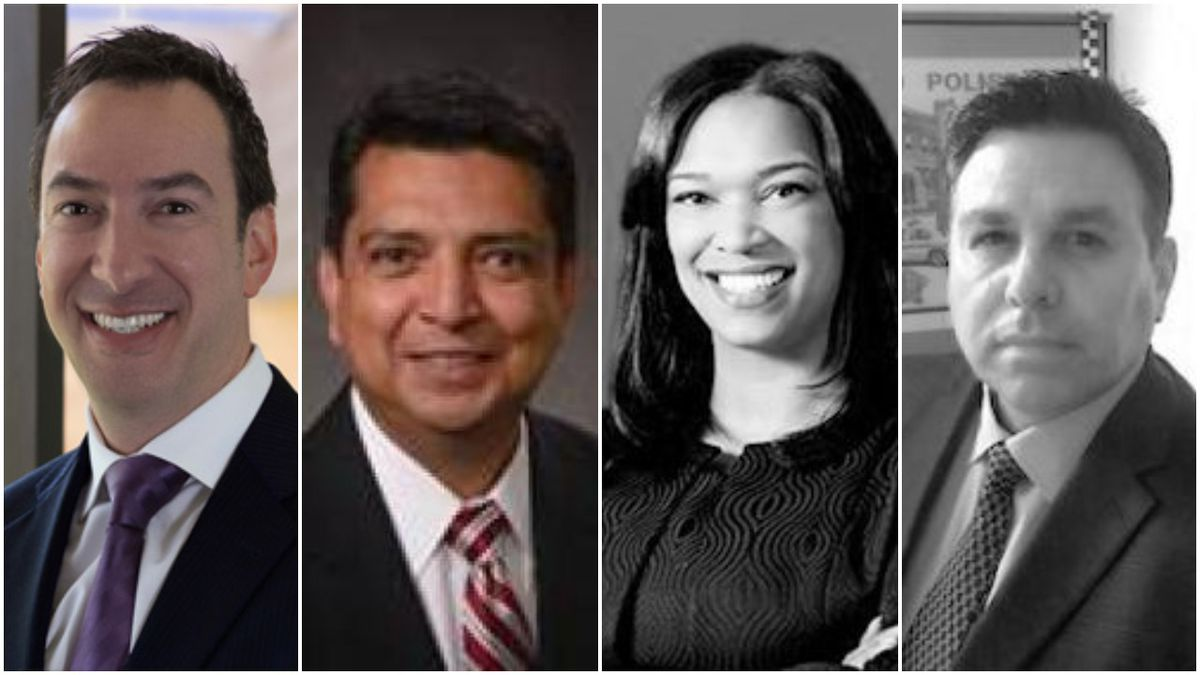 (From left) Illinois Gaming Board members Steve Dolins, Anthony Garcia, Dionne Hayden and Ruben Ramirez.