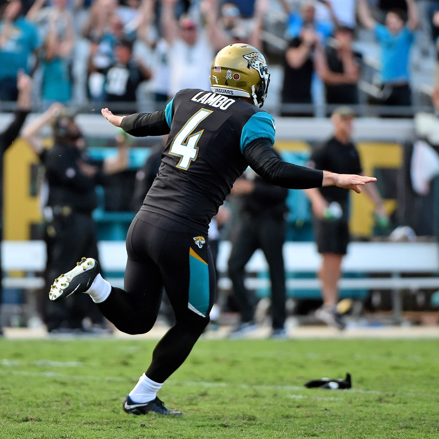 best loved fc23e b31f0 NFL celebrations: Jaguars kicker Josh Lambo is changing the ...