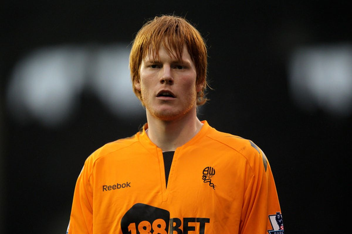 LONDON ENGLAND - FEBRUARY 20:  Adam Bogdan of Bolton looks on during the FA Cup sponsored by E.ON 5th Round match between Fulham and Bolton Wanderers at Craven Cottage on February 20 2011 in London England.  (Photo by Paul Gilham/Getty Images)