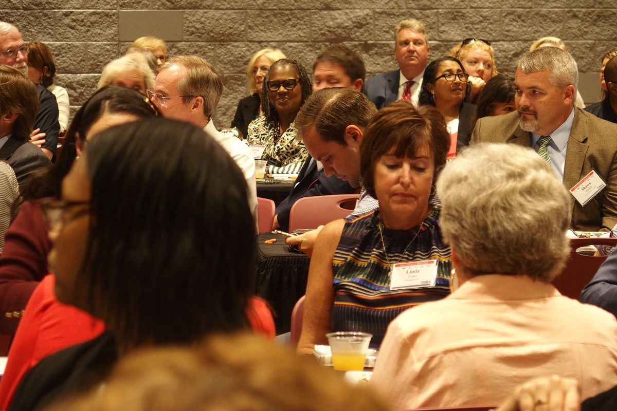School boards from across West Tennessee gathered at the new Collierville High School on Monday evening.
