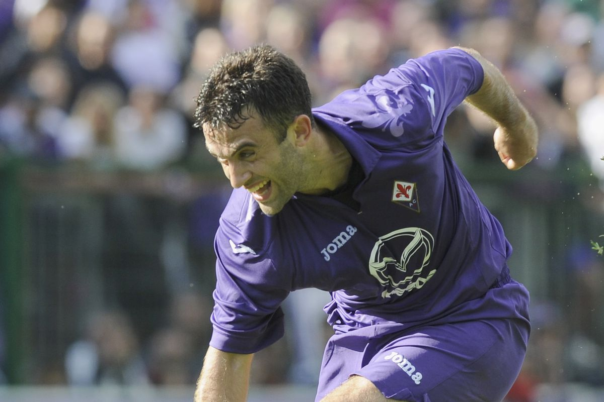 Goal-enthusiast Giuseppe Rossi in action today against Trentino