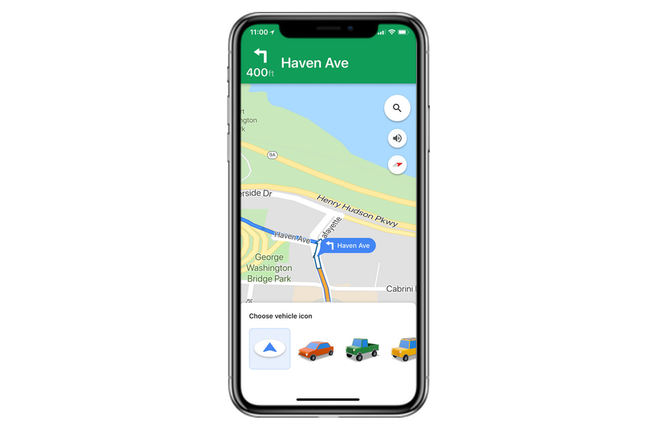 google maps for ios brings in an old waze feature to customize your navigation icon