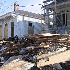 New Orleans After Hurricanes Katrina And Rita