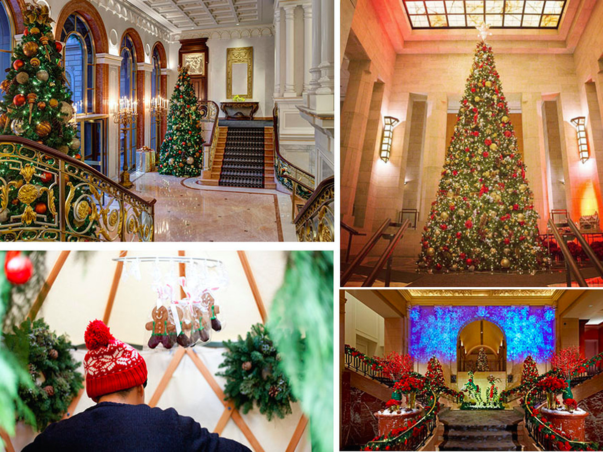 map 10 new york city hotels all dressed up for the holidays - New York Christmas Decorations