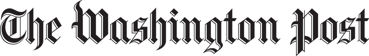 The Washington Post's name in an old-school, serif typeface