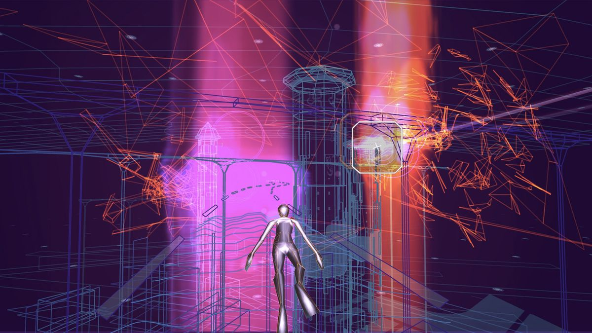 Rez Infinite - pink columns of light