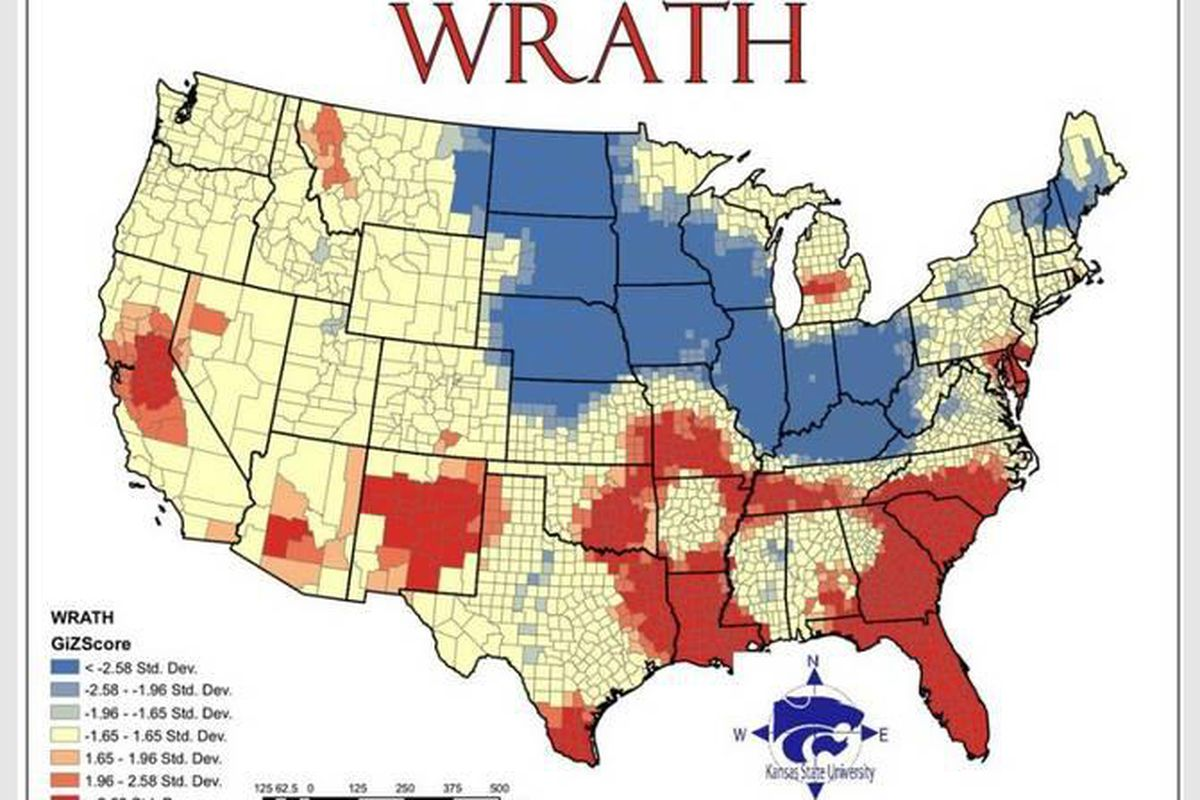Geographers map out the seven deadly sins - Deseret News on kansas on a us map, kansas map with all cities, kansas atlas, kansas county maps with towns, colorado kansas border map, kansas mountains map, kansas river map, kansas land regions, kansas climate, kansas lakes map, kansas dot maps, kansas state, kansas sites of interest, kansas topographic map, kansas on american map, kansas elevation map, kansas road map, kansas geography map, kansas on country map, kansas road conditions,