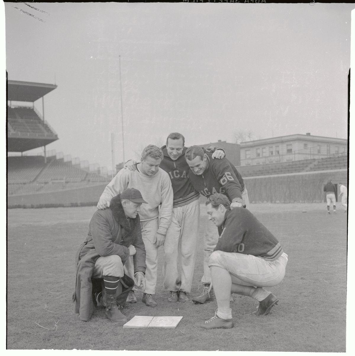 Bears Teammates Posing on The Field