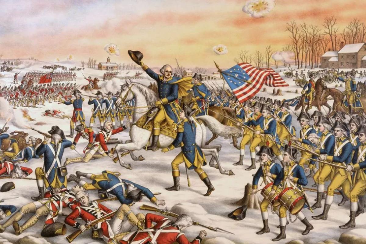 General Washington at the Battle of Princeton.