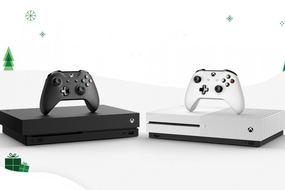 Xbox One X and Xbox One S winter art