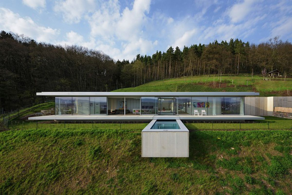 """All photos by Pieters Kers &amp; Patrick Voigt via <a href=""""http://www.archdaily.com/777112/villa-k-paul-de-ruiter-architects"""">ArchDaily</a>"""